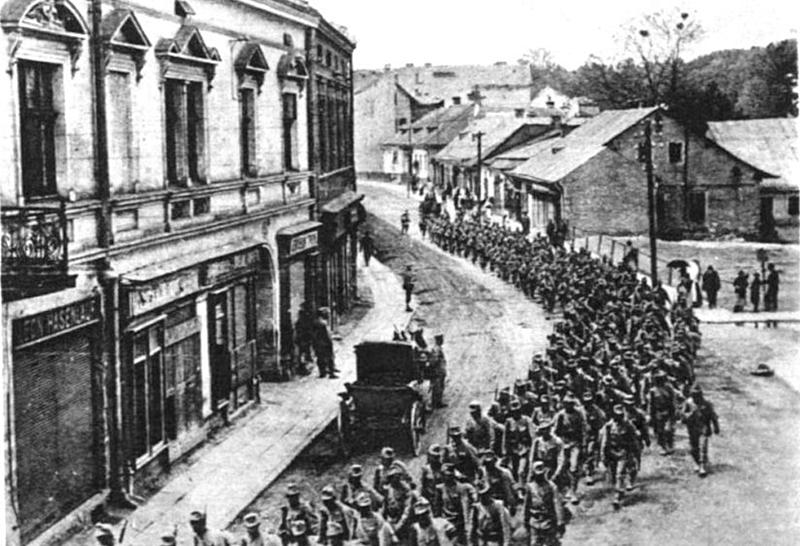 Utcakép Premyslben 1915 nyarán