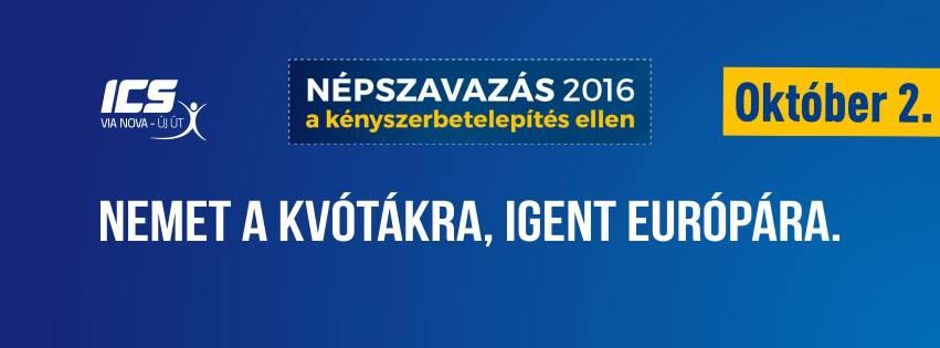 A Via Nova saját üzenetekkel is segíti a népszavazási kampányt (Kép: Via Nova)