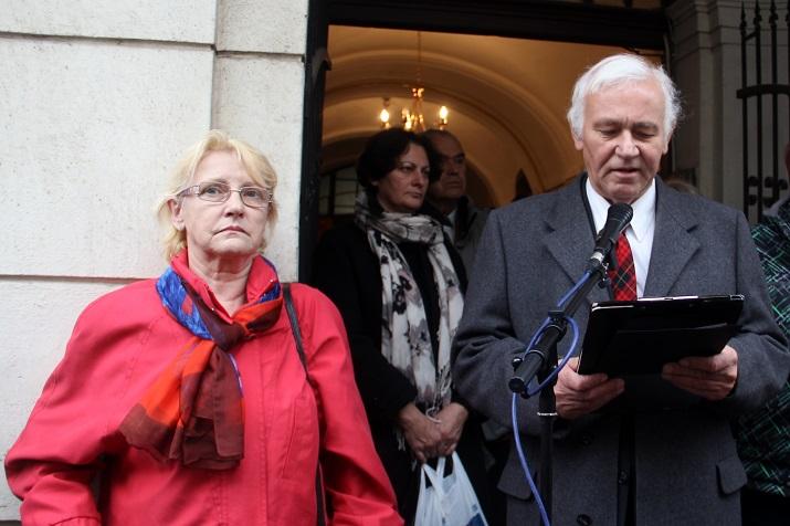 Balassa Zoltán ismertette Radványi Géza életútját (Fotó: Ossza István)