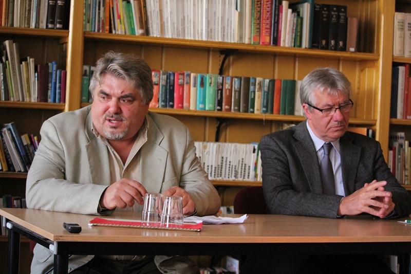 Kőszeghy Elemér (b) és Kisimre Ferenc (Fotó: Neszméri Tünde/Felvidék.ma)