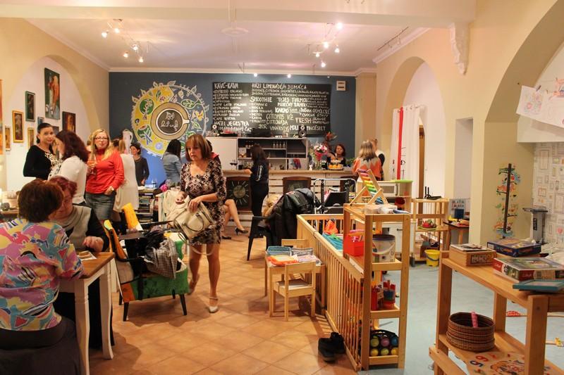 A Kút Caféban (Fotó: Szalai Erika/Felvidék.ma)