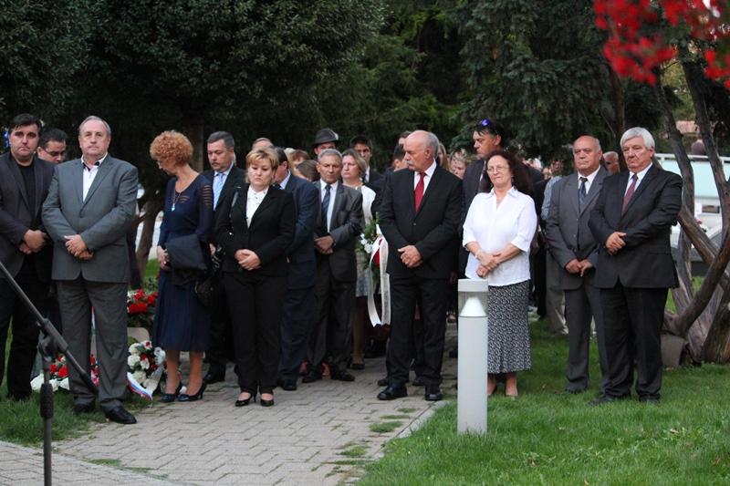 Az ünnepség résztvevői. (Fotó: Neszméri Tünde/Felvidék.ma)