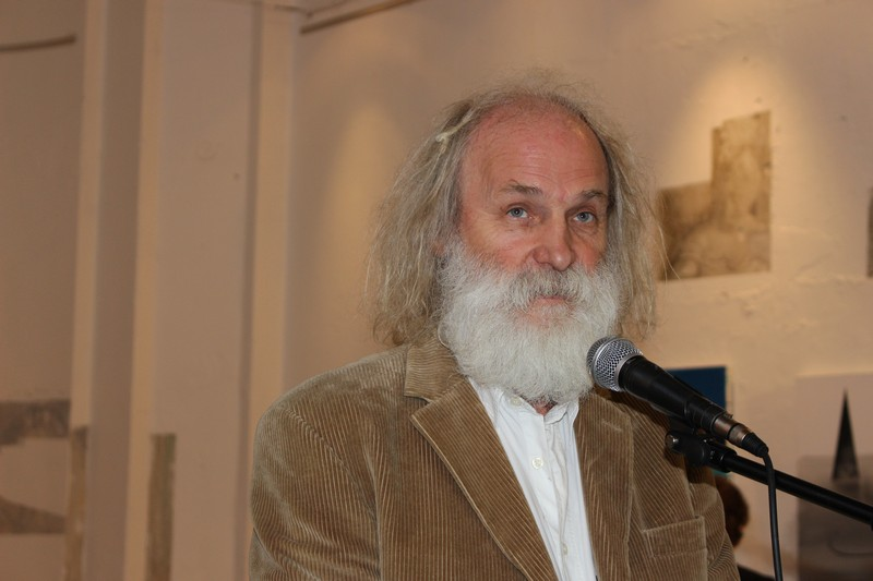 Dolán György festőművész, a szimpózium ötletgazdája (Fotó: Szalai Erika/Felvidék.ma)