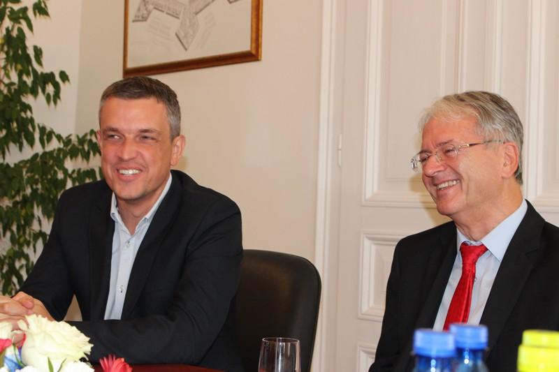 Keszegh Béla és Stubendek László (Fotó: SZE)