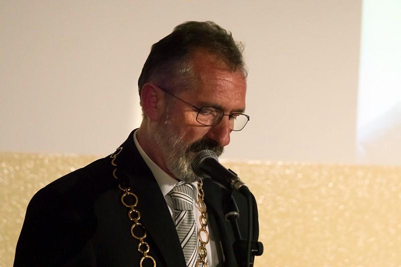 Fehér Tibor, Illésháza polgármestere (Fotó: a szerző)