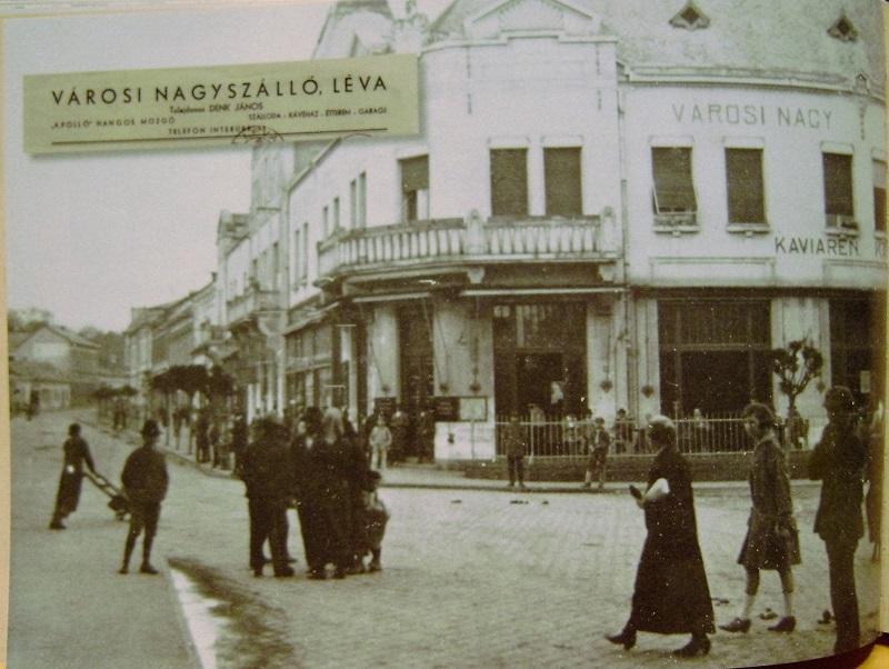 Léva. Reprodukció Tolnai Csaba könyvéből