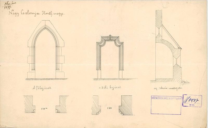 1879-es rajzok a templomról - MOB-archívumából