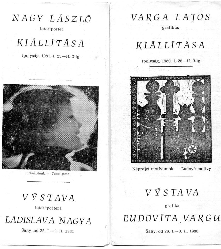A kiállítások katalógusai (Csáky Károly repr.)