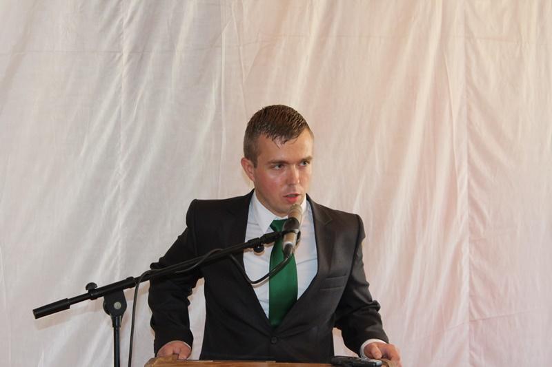 Varga Tibor kollégánk, a Csemadok frissen megválasztott, ifjúságért felelős elnökségi tagja (Fotó: Neszméri Tünde/Felvidék.ma)
