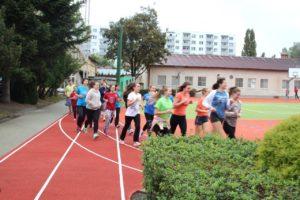 A diákok rögtön kipróbálták az új pályát (Fotó: RNDr. Holczhei Árpád)