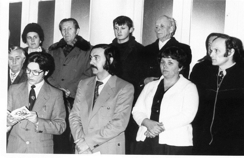 M. Nagy László kiállításának megnyitója (Csáky K. archívuma)