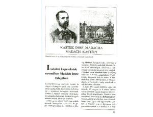 Madáchról az Irodalmi kapcsolatok I. c. kötetben (Csáky K. repr.)