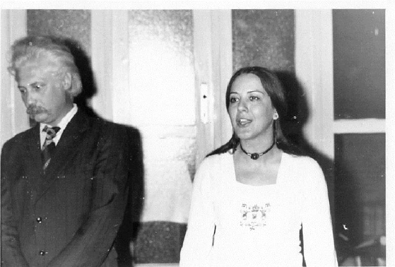 Nagy János Havas Judittal az ipolysági tárlatnyitón (Fotó: Csáky Károly archívuma)