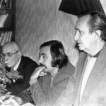 Ozsvald Árpáddal és Csontos Vilmossal a klubban (Fotó: Csáky Károly archívuma)