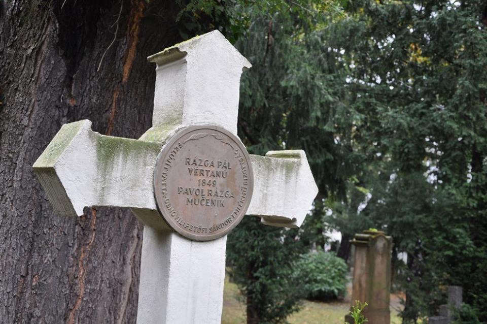 Rázga Pál sírkeresztje (Fotó: Oriskó Norbert)