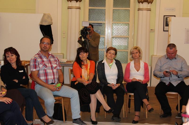 A beszélgetés résztvevői (Fotó: Neszméri Tünde/Felvidék.ma)