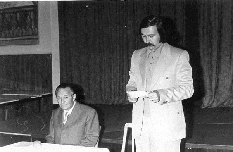 Ruffy Péter ipolysági előadásának megnyitója (Fotó: Csáky Károly archívuma)
