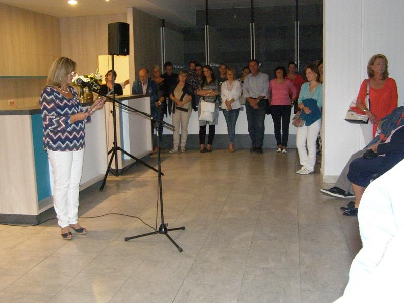 Szűcs Irén nyitotta meg a kiállítást (Fotó: Tóth Ilona)