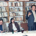 Szeberényi Zoltánnal az ipolysági könyvtárban (Fotó: CsK archívuma)