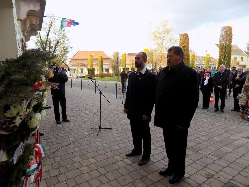 Vígh Gábor polgármester és Blahovics László alpolgármester (Fotó: Berényi Kornélia)