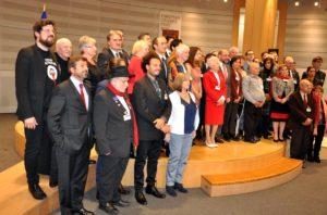 Az összes kitüntetett Martin Schulz EP-elnökkel (Fotó: a szerző)