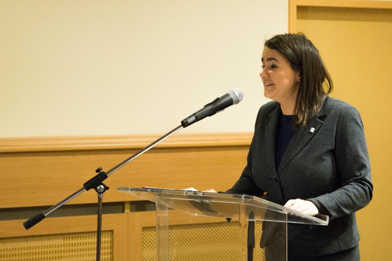 Novák Katalin, az Emberi Erőforrások Minisztériumának család-, ifjúság- és nemzetközi ügyekért felelős államtitkára