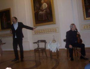 Jakubecz László színművész és Reiter István hegedűművész színi előadása