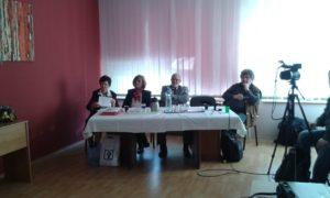 A zsűri: Szanyi Mária, Gaál Ida, Bauer Győző és Lacza Tihamér (Fotó: a szerző)