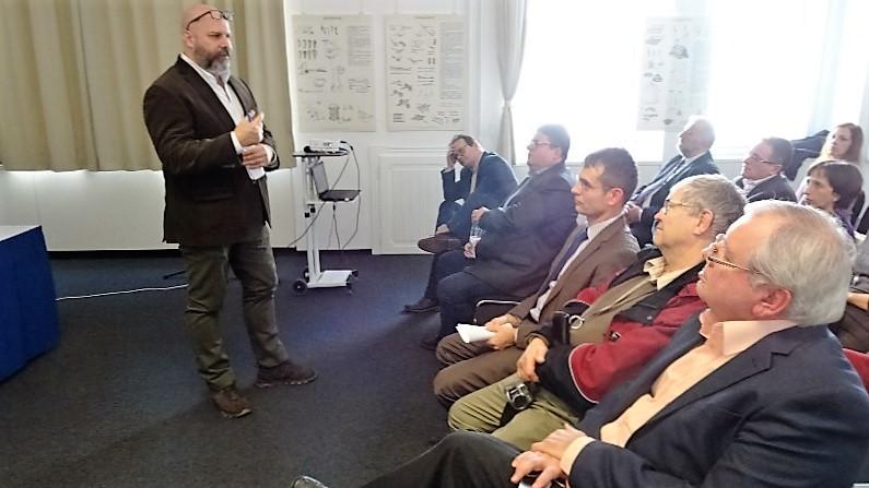 Harrach Gábor Patrick, a Nemzetpolitikai Kutatóintézet munkatársa (Fotó: Gecse Géza/Felvidék.ma)