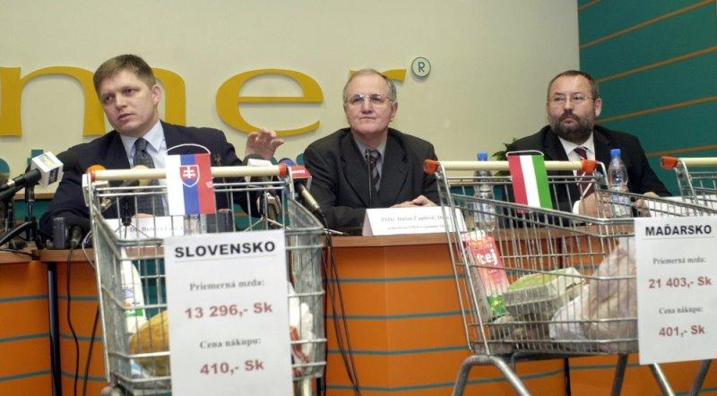 A bevásárló kosaras kampány (fotó: TASR)
