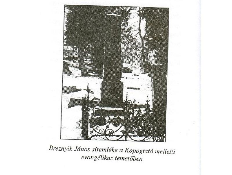Breznyik síremléke (Fotó: CSK könyvéből)