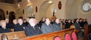 Az emlékmise résztvevői (Fotó: Dunajszky Éva/Felvidék.ma)