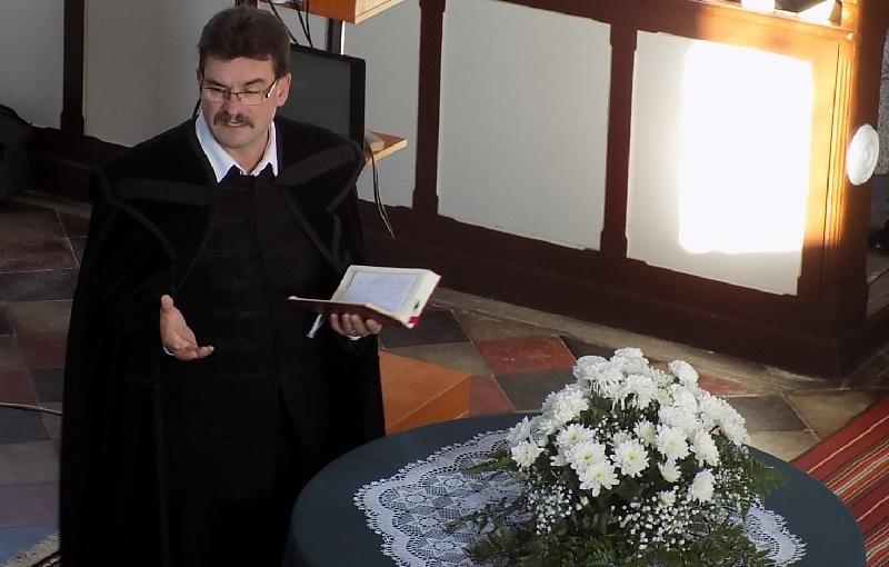 Ft. Fazekas László, a Szlovákiai Református Keresztyén Egyház püspöke (Fotó: Homoly Erzsó/Felvidék.ma)