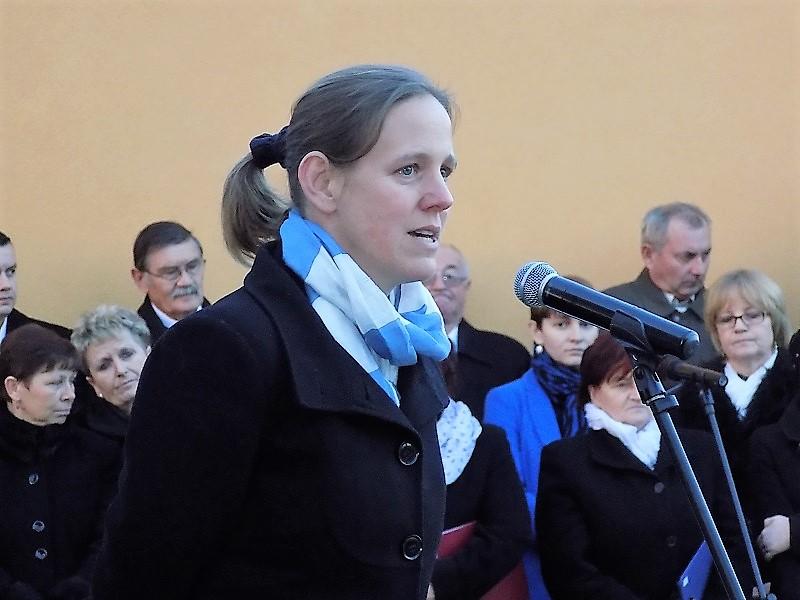 Földváryné Kiss Réka, a budapesti Nemzeti Emlékezet Bizottságának elnöke, a Gulág-emlékbizottság tagja (Fotó: Homoly Erzsó/Felvidék.ma)