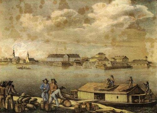 Már a 18. században is élénk forgalom zajlott a Dunán Komáromnál (Fotó: a szerző archívuma)