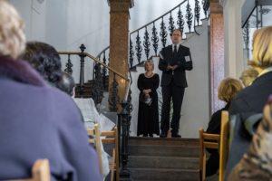 Hoppál Péter kultúráért felelős államtitkár beszédet mond Az Idegen ég alatt - Oroszföldön meggyötörve című kiállítás megnyitóján a pécsi Néprajzi Múzeumban 2016. november 4-én. ( Fotó: Sóki Tamás/MTI)