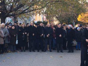 A megemlékezők egy része (Fotó: samorin.sk)