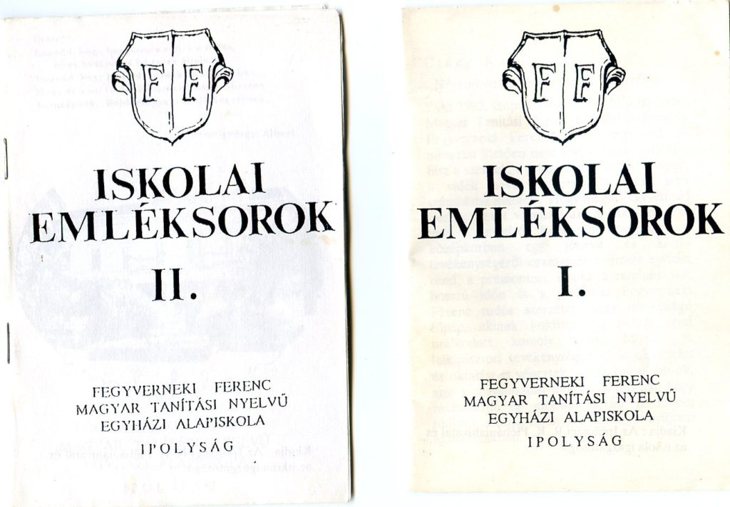 Az Iskolai Emléksorok I., II. kötete (Fotó: CSK)