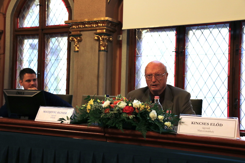 Kincses Előd előadása (Fotó: Szinek János/Felvidék.ma)