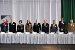A főasztalnál foglalt helyet Czimbalmosné Molnár Éva, Magyarország szlovákiai nagykövete is (Fotó: Oriskó Norbert/Felvidék.ma)