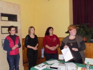 Megalakult a Pelsőci Régió Értéktár Bizottsága -balról-Boros Andrea, Görgei Renáta, Vanyo Mária és Beke Beáta