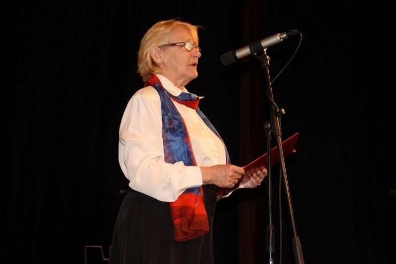 Palenčárné Csáji Ildikó értékeli a konferenciát (fotó: Balassa Zoltán/Felvidék.ma)