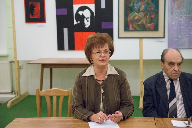 Pogány Erzsébet, a Szövetség a Közös Célokért igazgatója a rendezvény háziasszonyaként emlékezett vissza (fotó: Hideghéthy Andrea/Felvidék.ma)