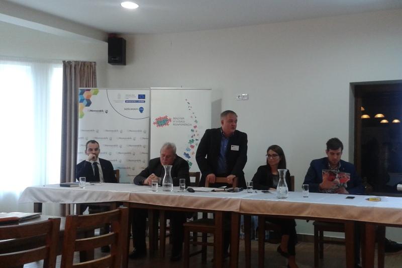 Szórád Gábor, a Magyar Ifjúsági Konferencia elnöke (fotó: Csonka Ákos/Felvidék.ma)