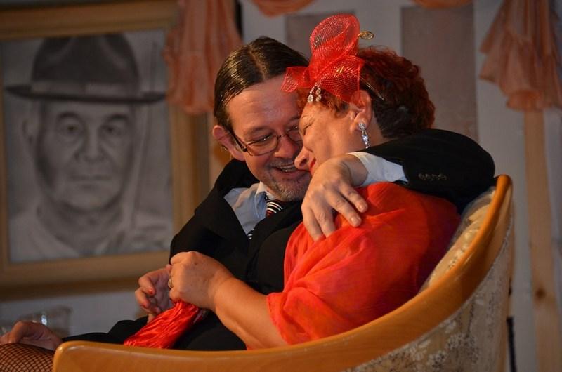 Hyppolit, a lakáj. Jakab Cecília (Mimi) és Vajlik Zoltán rendező (Makáts Csaba) (Fotó: Csémi Andrea)
