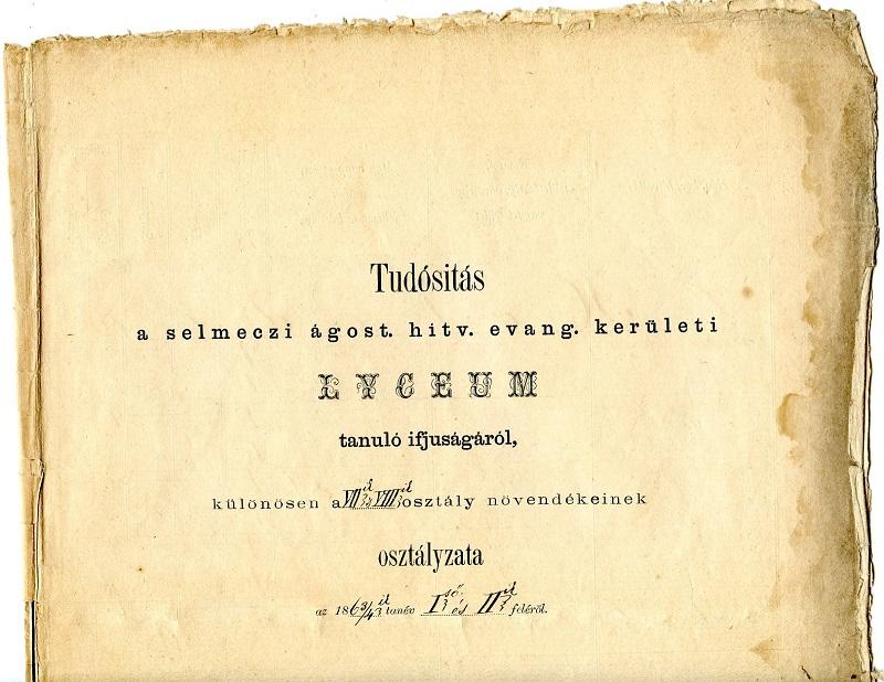 Tudósítás Breznyik idejéből, amelyben Mikszáth is szerepel (Fotó: CSK reprodukciója)
