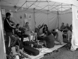 A táborban (Fotó: Korona)