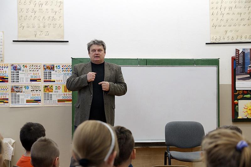 Író-olvasó találkozón lllésházán (Fotó: Hideghéthy Andrea/Felvidék.ma)