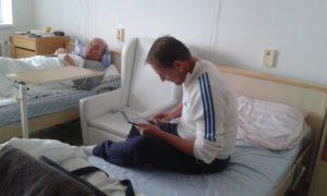 Internettel gyorsabban repül az idő kórházban is (Fotó: a szerző)