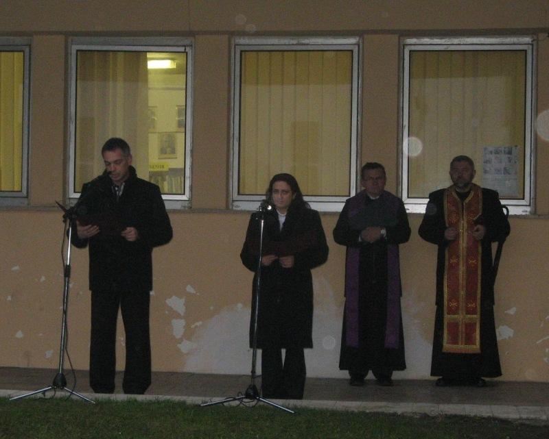 A polgármester köszöntője advent első vasárnapján Bodrogszerdahelyen (Fotó: Tököly Angéla)